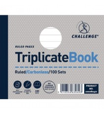 Challenge Triplicate Book 105x130mm Pk5