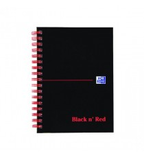 Black n Red A6 Ruled Perforated Notebook