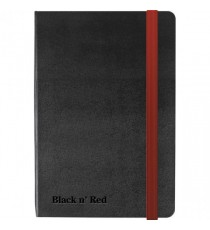 Black n Red Hard Cover Notebook A6
