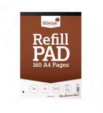 Silvine HB Punched Refill Pad A4 Pk6