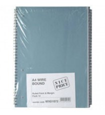 Softcover A4 Spiral Notepad Pk12