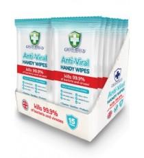 Anti-viral wipes (15 per pack)